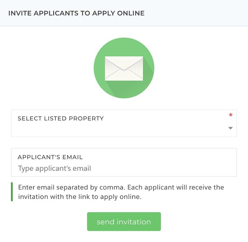 Invite tenants to apply